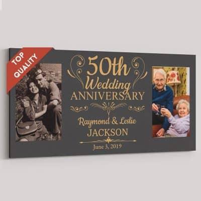 custom 50th anniversary photo canvas print