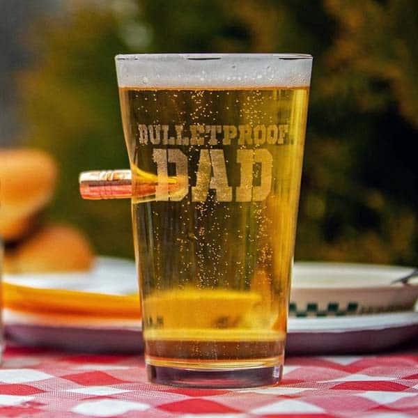 Bulletproof Dad Pint Glass