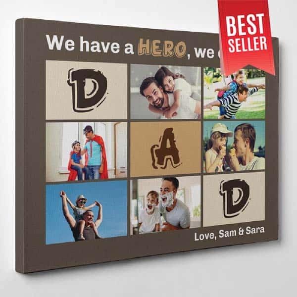 Hero - Dad Canvas Print