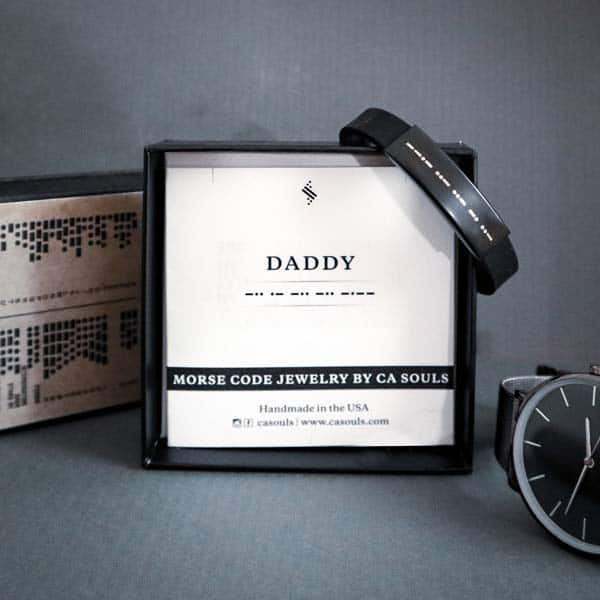 fathers day gift ideas: Morse Code Bracelet