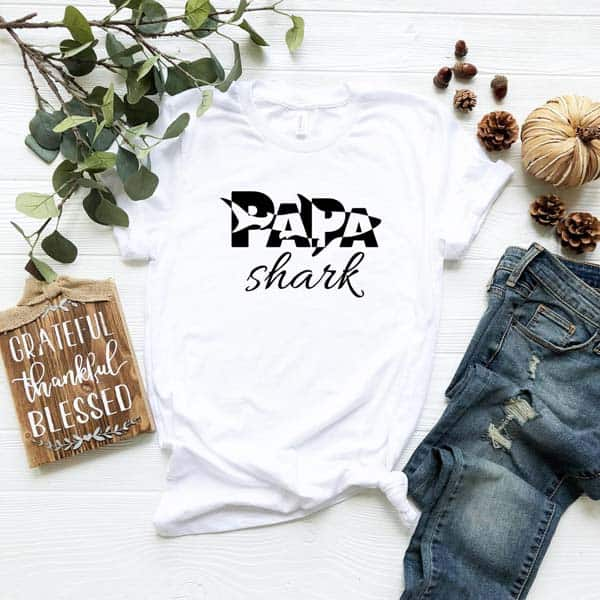 best fathers day gifts: Papa Shark T-shirt