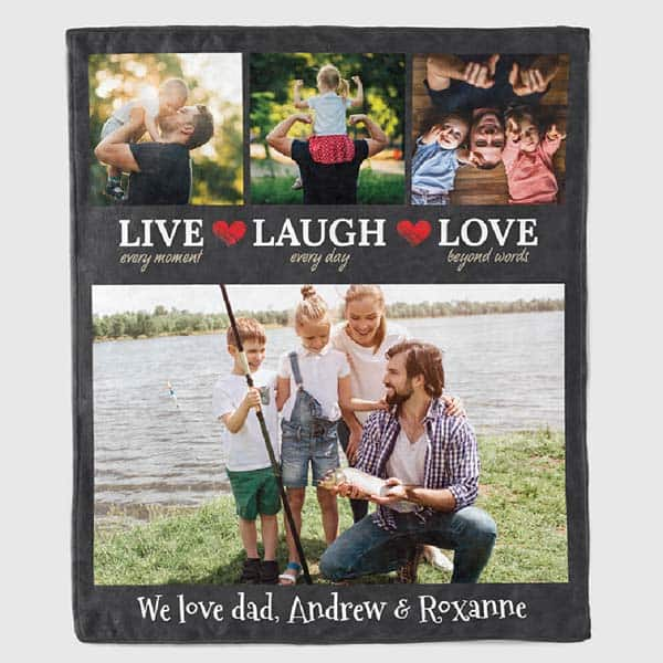 sentimental fathers day gifts - We Love Dad Family Photo Blanket