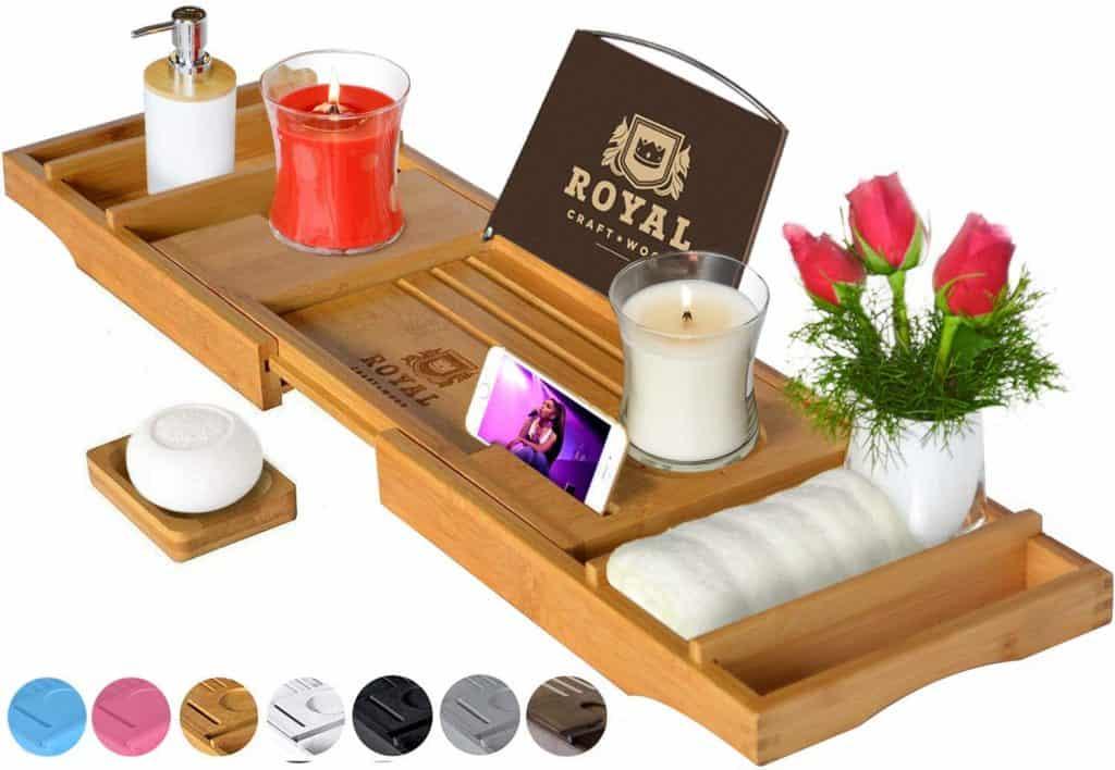 bathtub wooden caddy tray