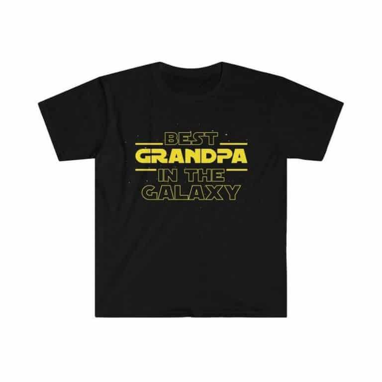 gift idea for grandpas: best grandpa in the galaxy t-shirt