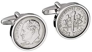 10 year anniversary gift for him: coin cufflinks
