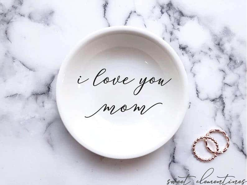 unique mothers day gift ideas: custom ring dish