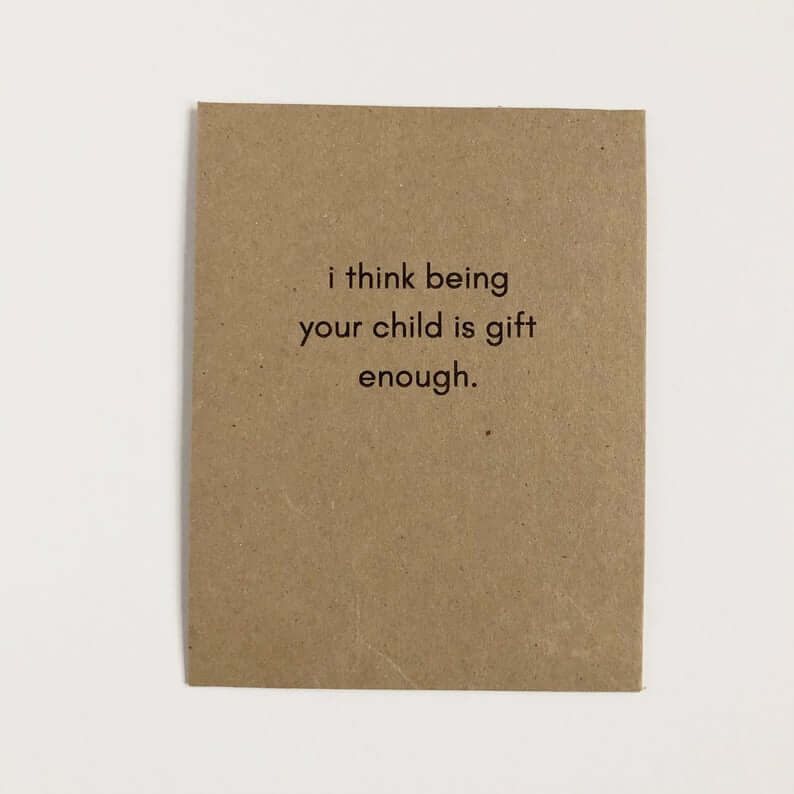 funny mothers day gifts: funny card