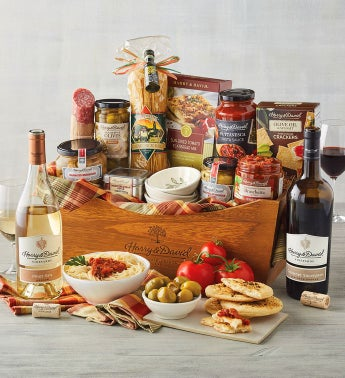 anniversary gift idea for couples: gift basket