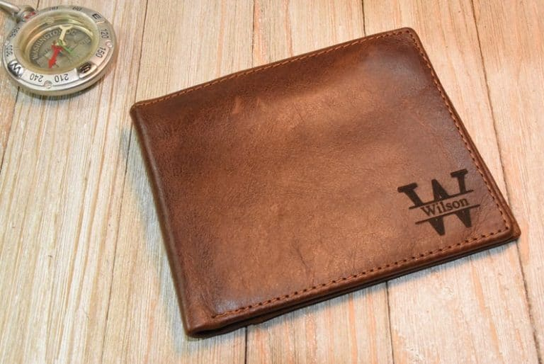xmas gift for grandpa: leather wallet