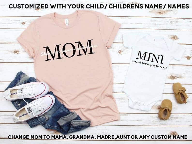 first mothers day gift: mommy and me shirt set