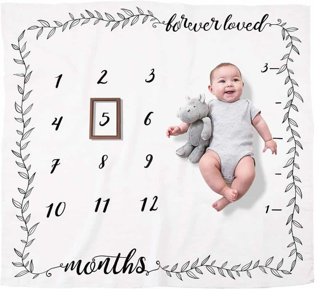 first mothers day gift ideas: monthly milestone blanket