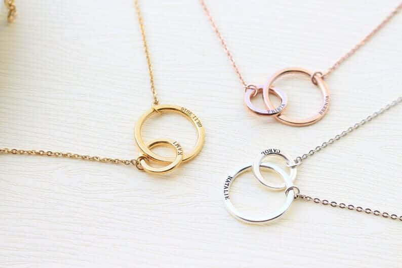 first mothers day gift ideas: new mom necklace