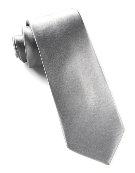 gift for 10th year anniversary: silver tie