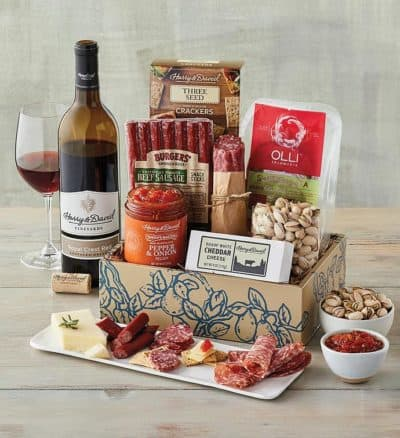 Father's Day Summer Snacking Gift Box with Wine