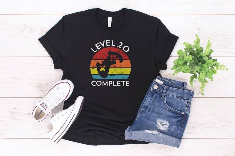 20th Anniversary Gift Level 20 Complete Shirt