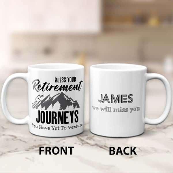 ideas for retirement gifts for men: Bless Your Retirement Mug