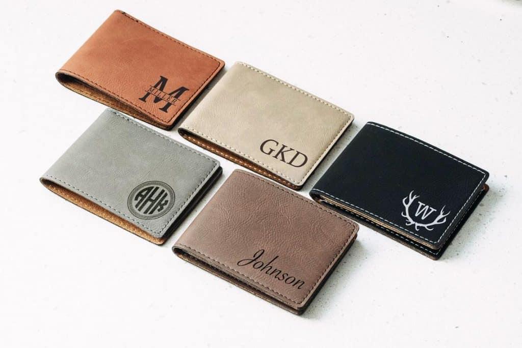 Custom Engraved Leather Wallet