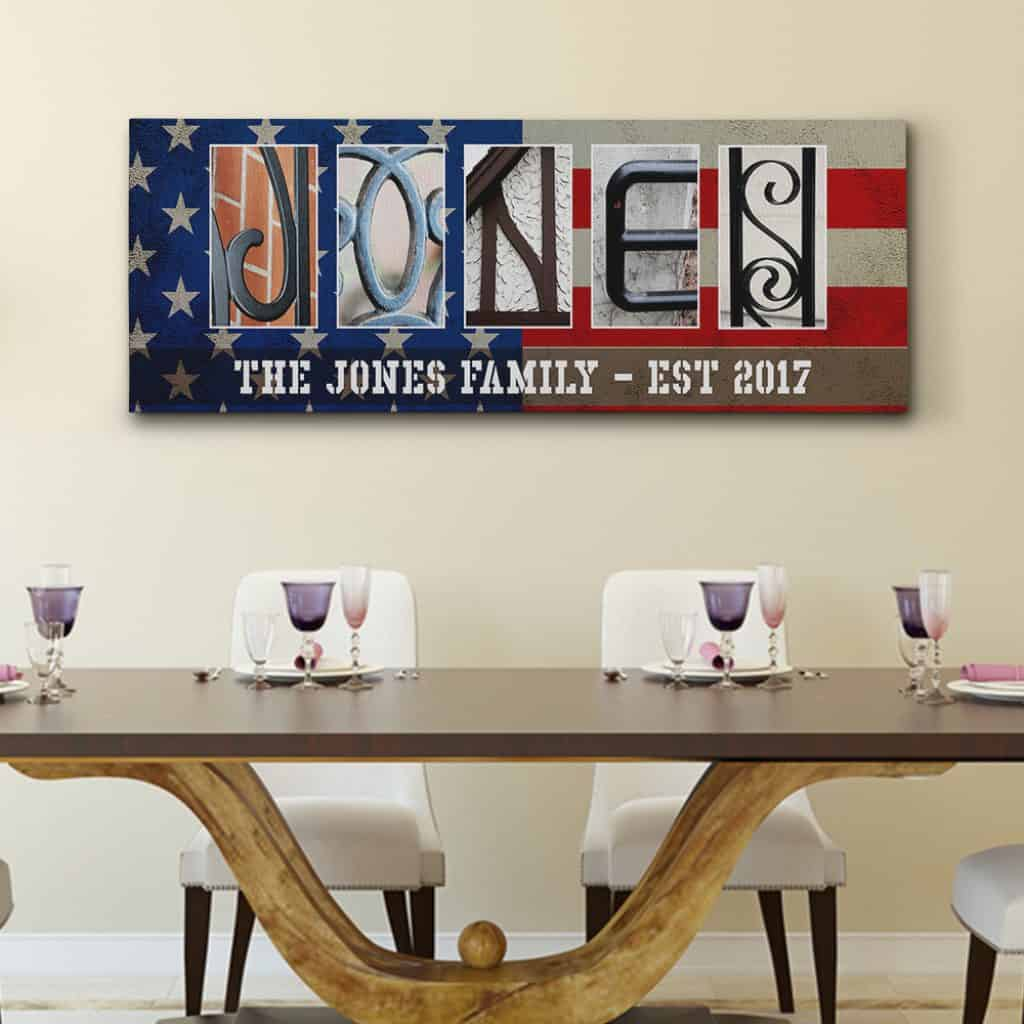 Custom Name Sign Canvas is another good gift for teen boys