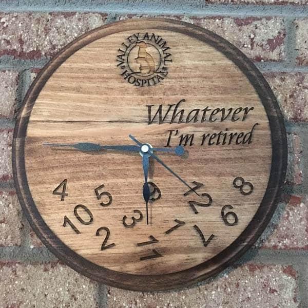 I'm retired clock