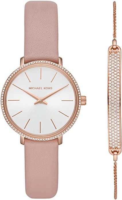 Michael Kors Pyper Three-Hand Stainless Steel Watch For Her