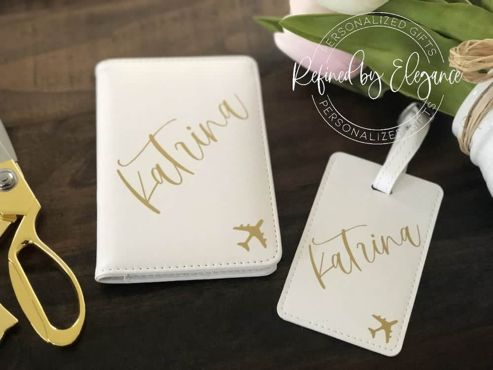 Personalized Luggage Tag and Passport Cover Set For The 16-Year-Old Girl On Her Birthday