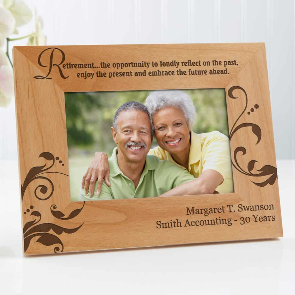 Personalized Photo Frame can be a good choice for retirement gifts for women