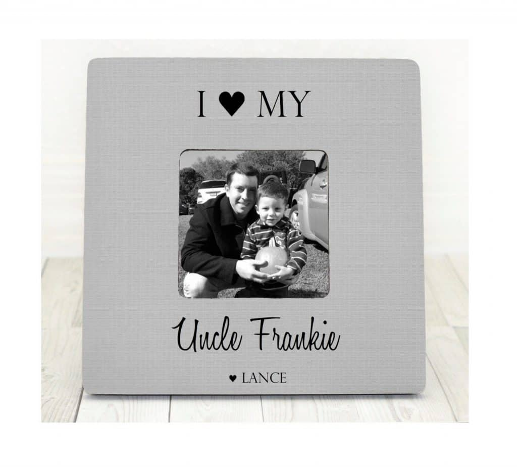christmas gift for uncle: Personalized photo frame