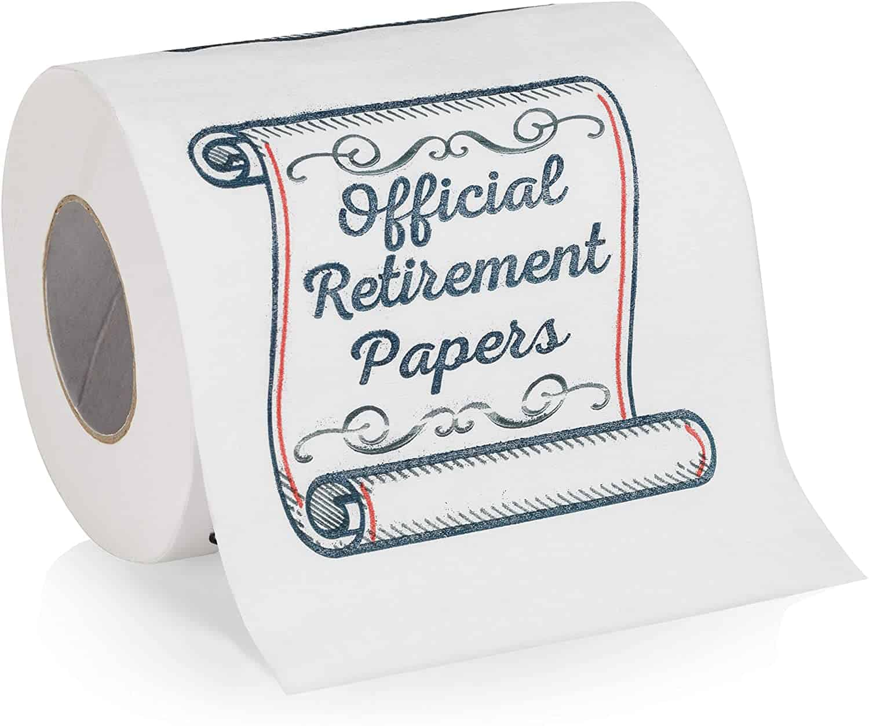 Retirement Papers Toilet Paper
