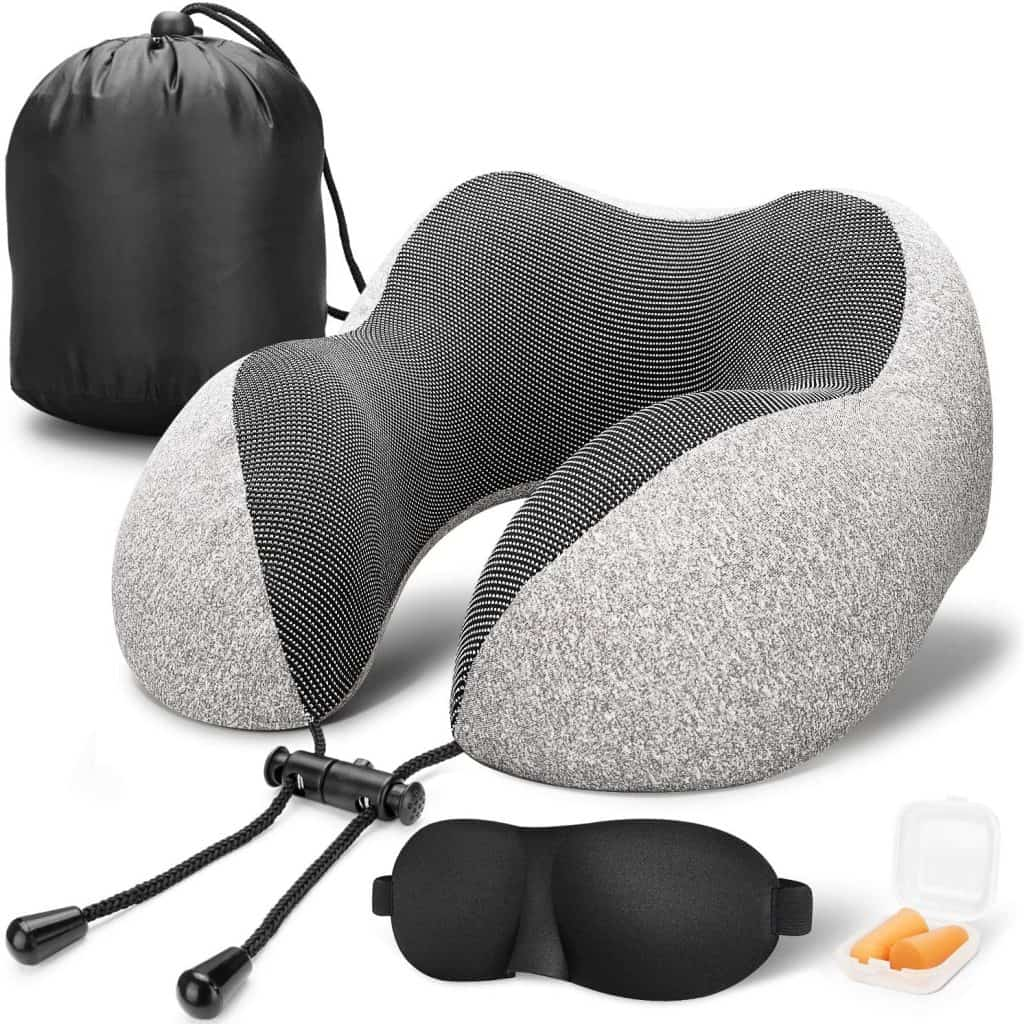 Grey Travel Pillow Set - Retirement gifts for men