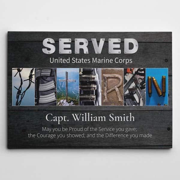 great retirement gifts for men: Veteran Letter Art