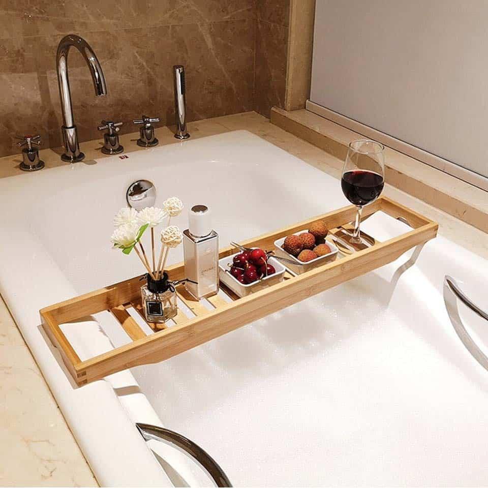 Wood Bath Tray
