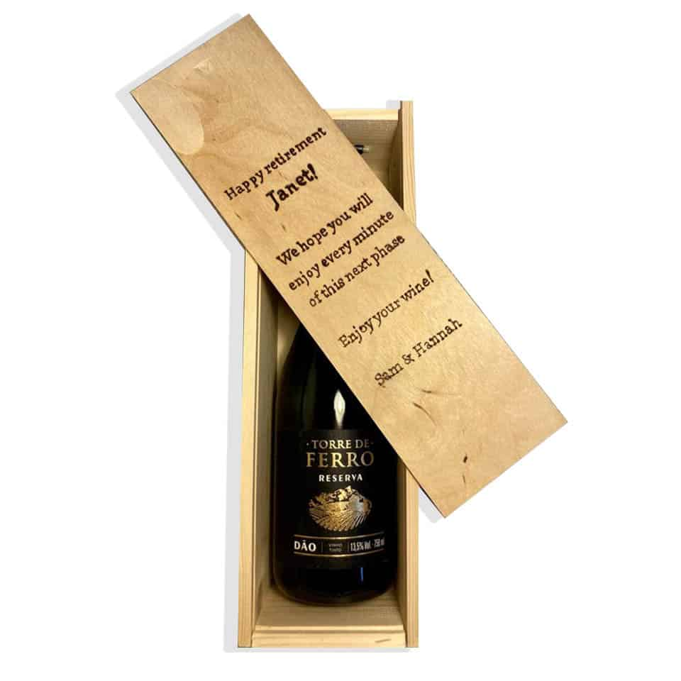 retirement Wood Wine Box