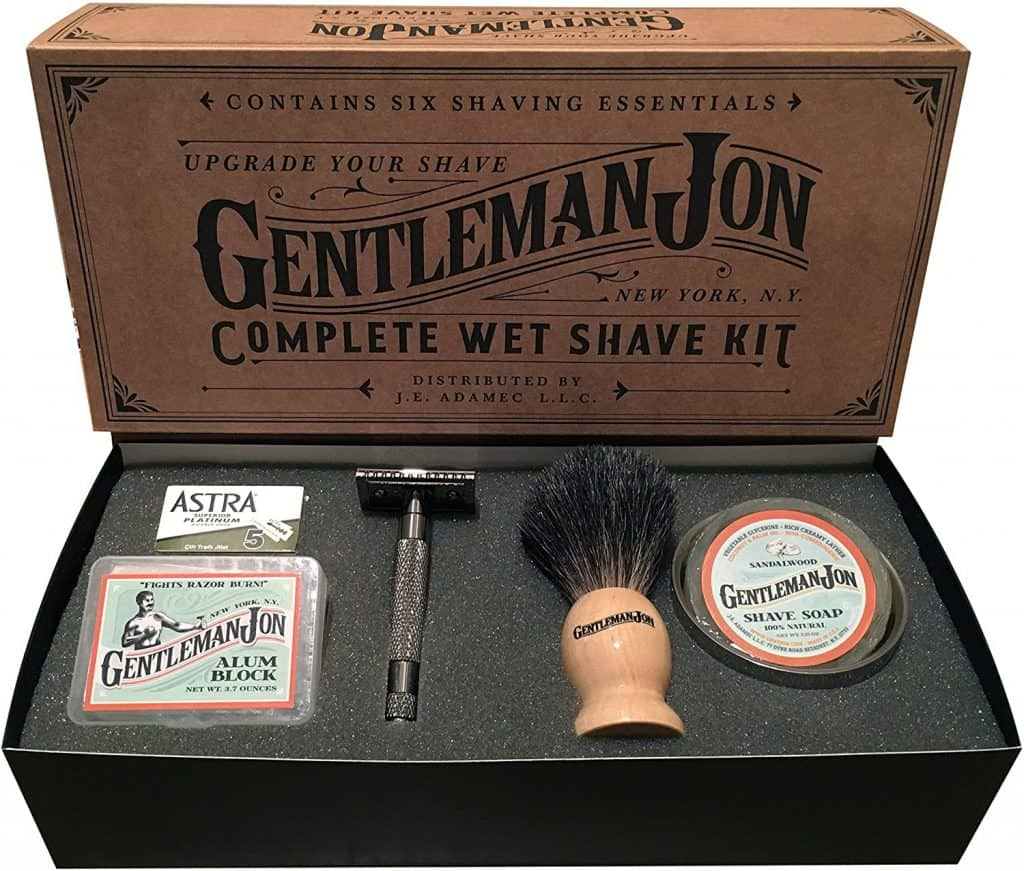gift for uncle: complete wet shave kit