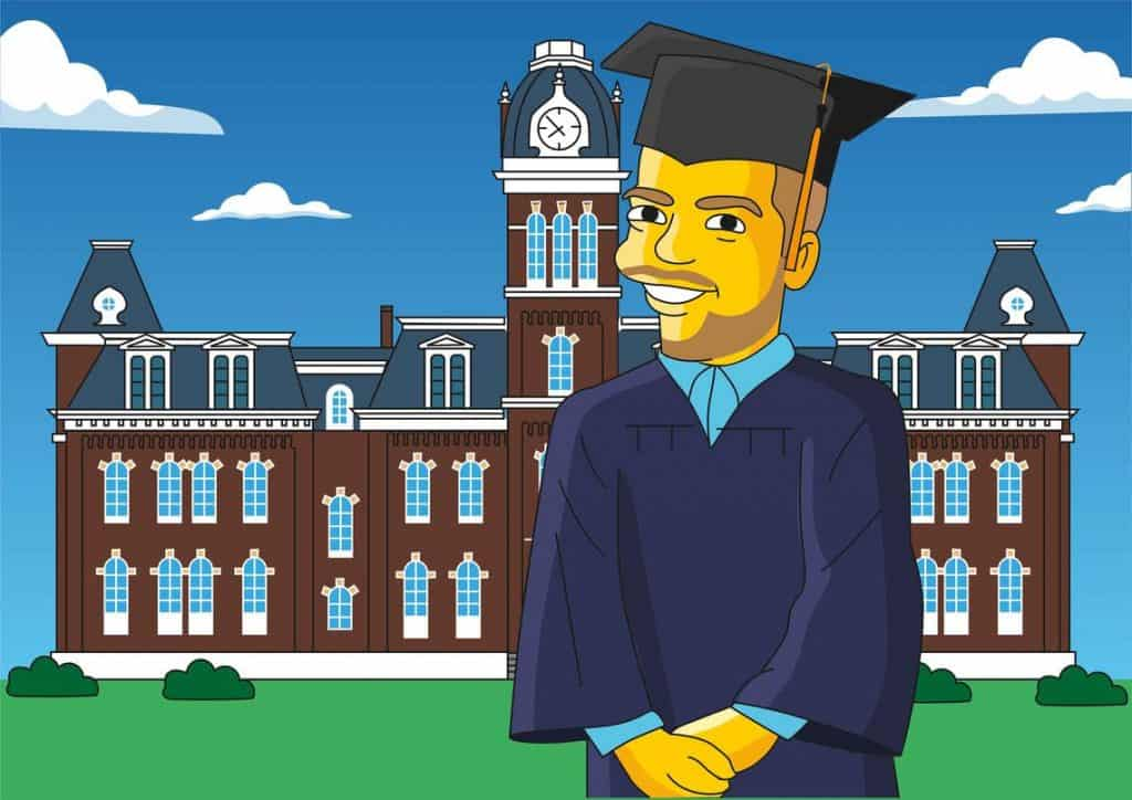 custom cartoon portrait for graduates