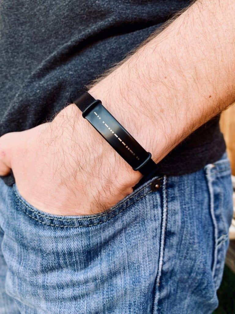 cool godfather gifts: custom morse code bracelet
