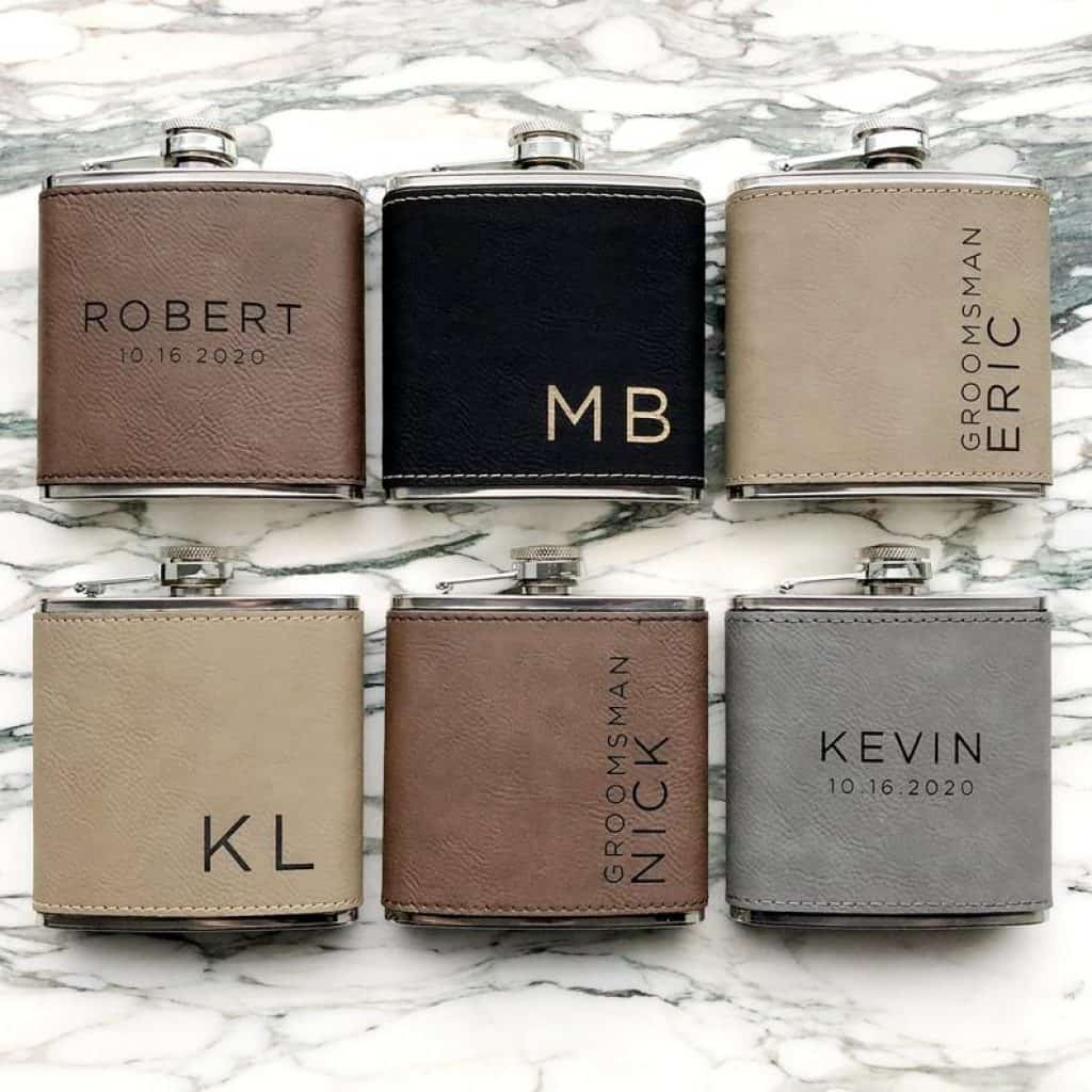 gifts for uncle: engraved flask