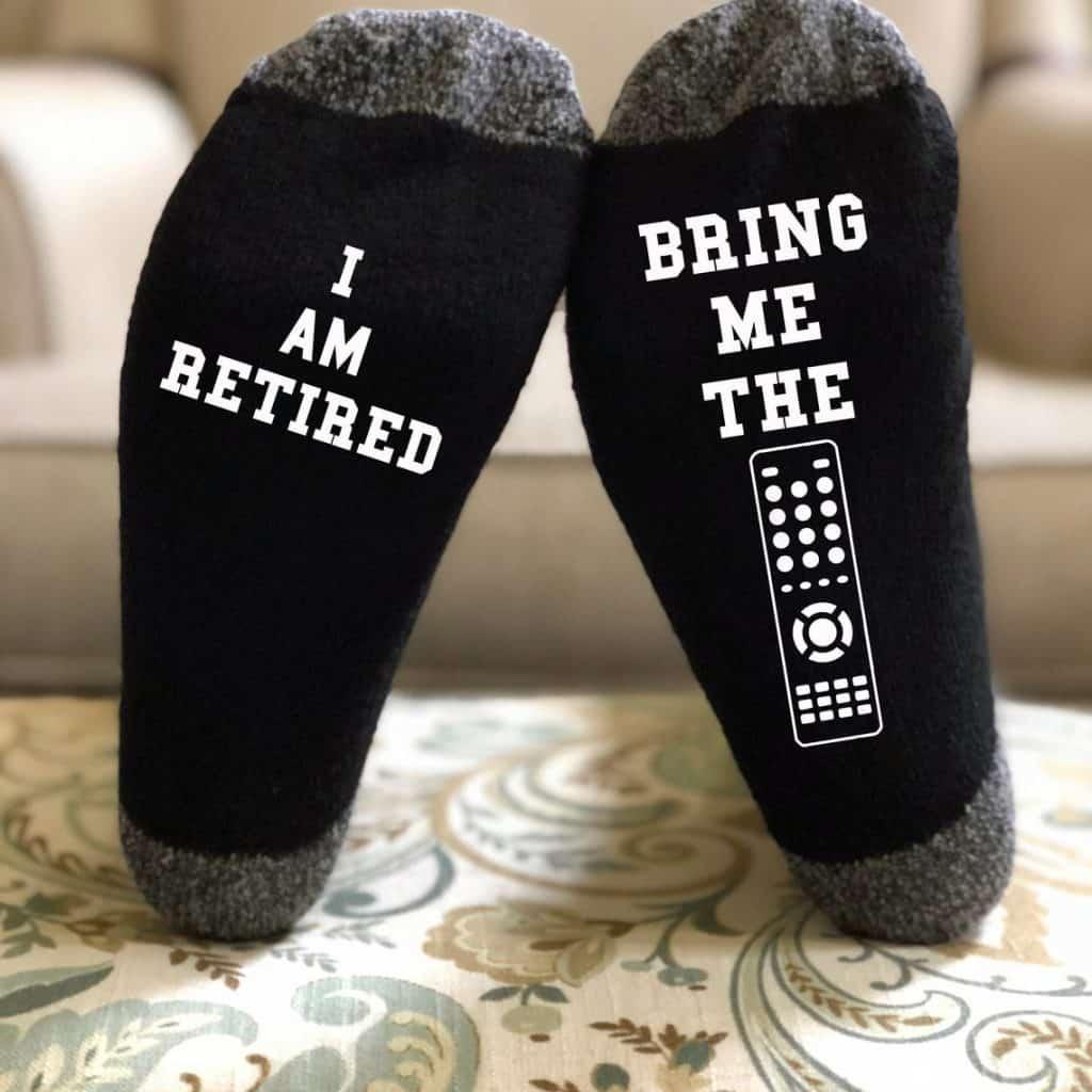 A pair of Black Funny Socks