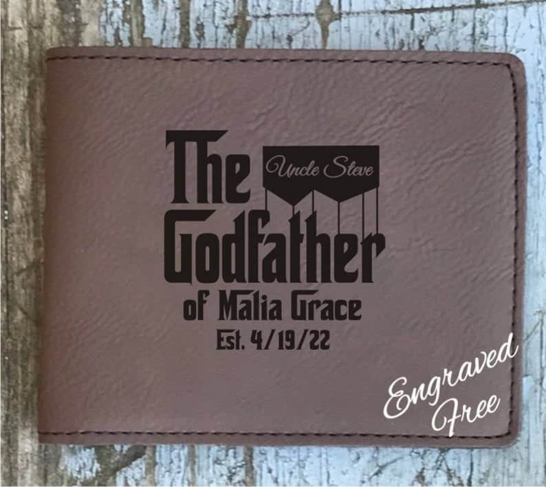 personalized godfather gift: godfather inspired wallet