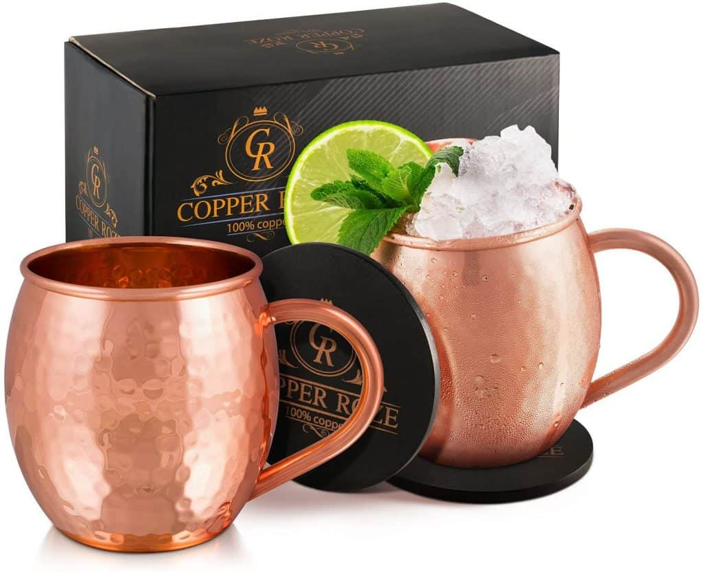 gift idea for uncle: moscow mule copper mugs