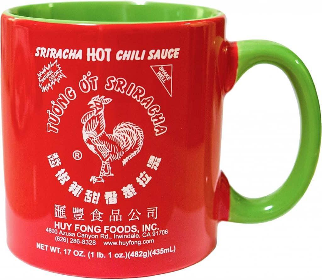 cool gifts for hot sauce lovers: sriracha ceramic mug