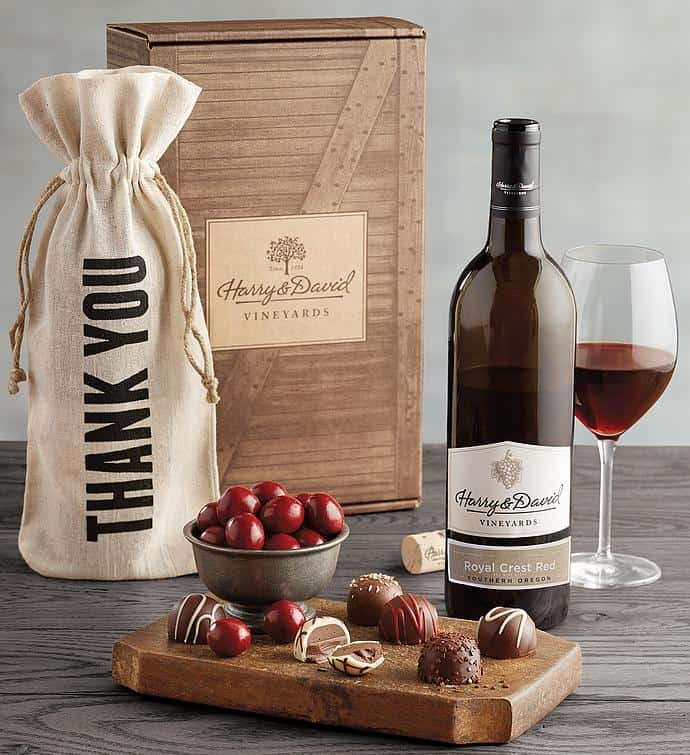 thank you gift for godfather: a red wine gift box