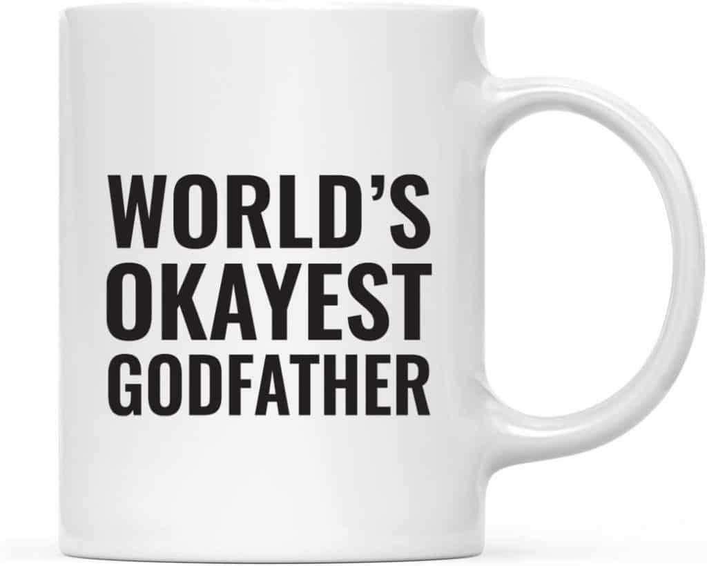 godfather gift: world's okayest godfather coffee mug