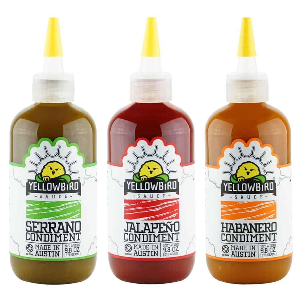 hot sauce gifts: yellowbird hot sauce combo