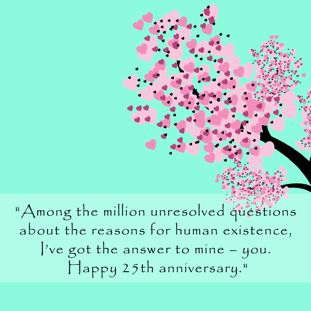 25th Anniversary Wishes for Wife