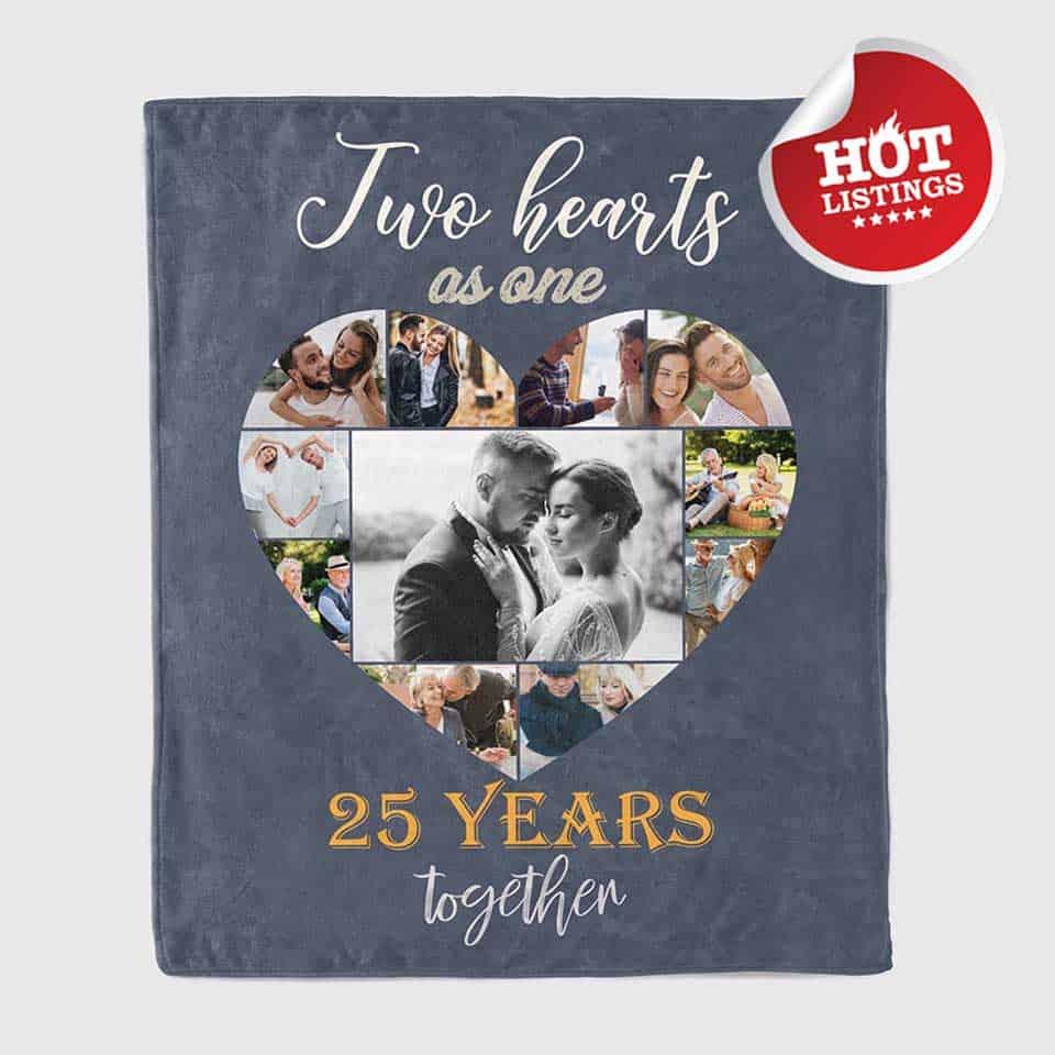 25th anniversary photo blanket