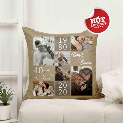 40th anniversary pillow