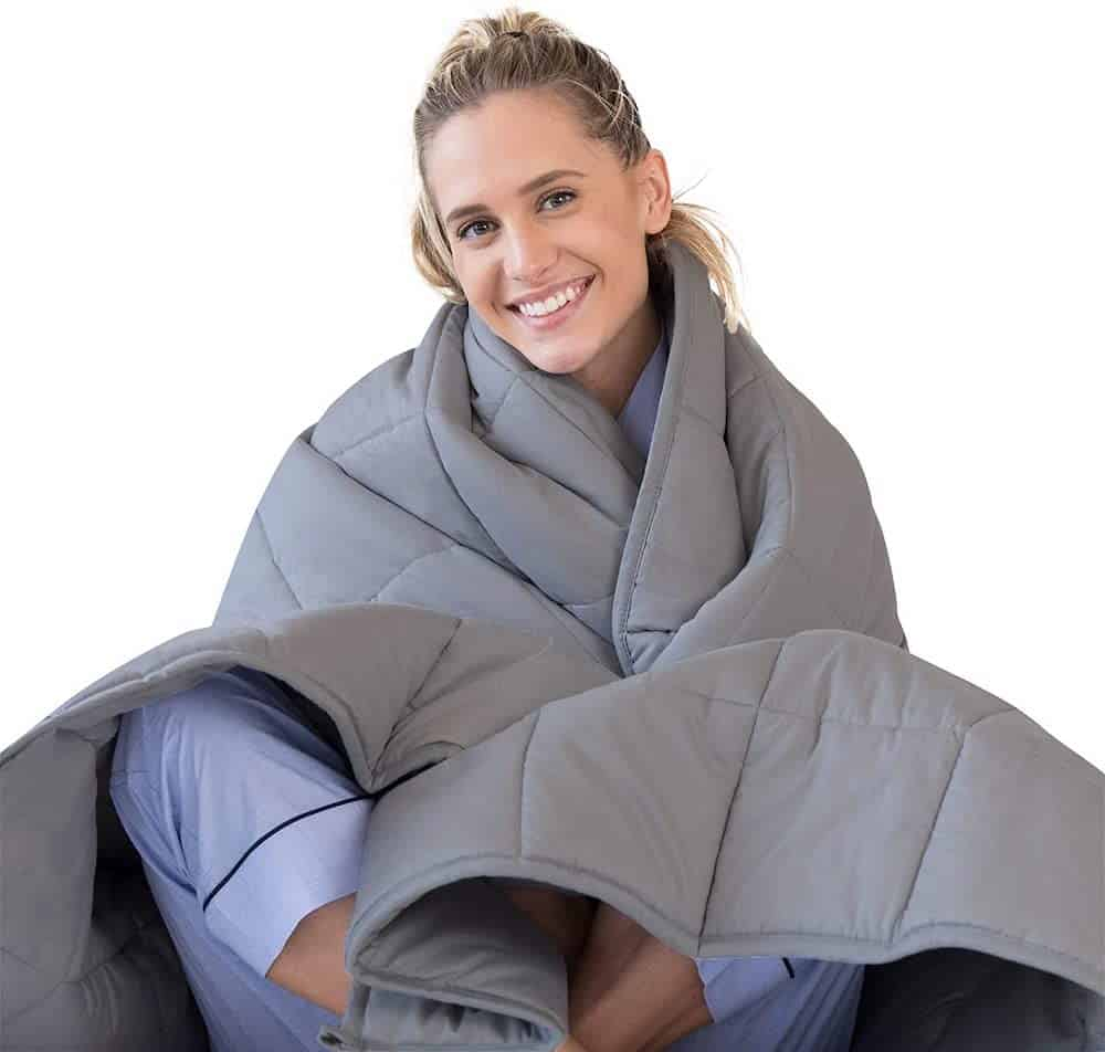 Adult Weighted Blanket As A Birthday Gift For Women
