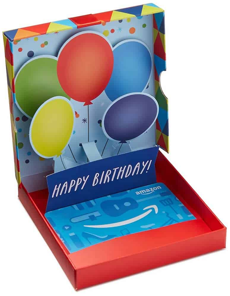Amazon Gift Card in a Birthday Pop-Up Box For Her