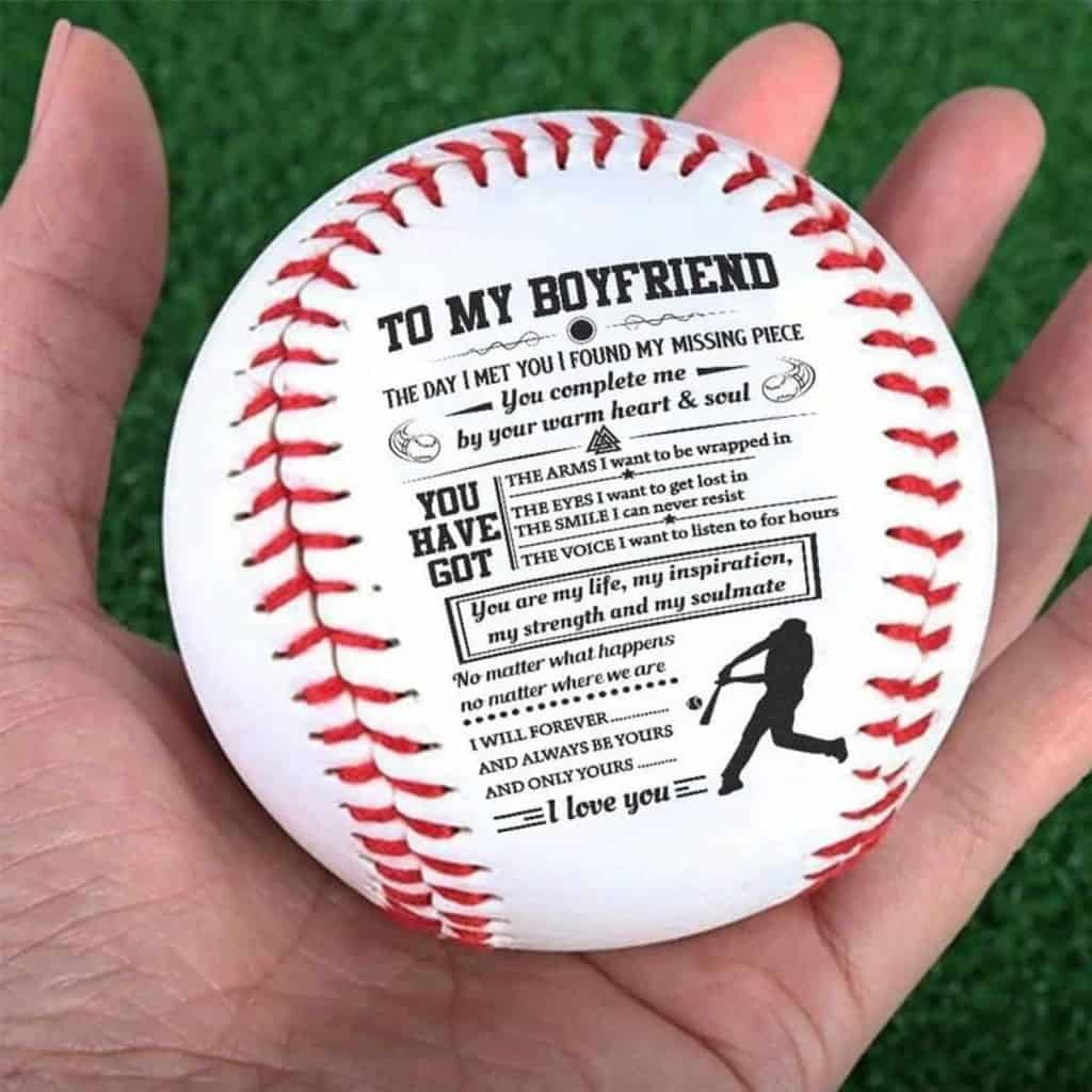 To My Boyfriend Baseball Ball