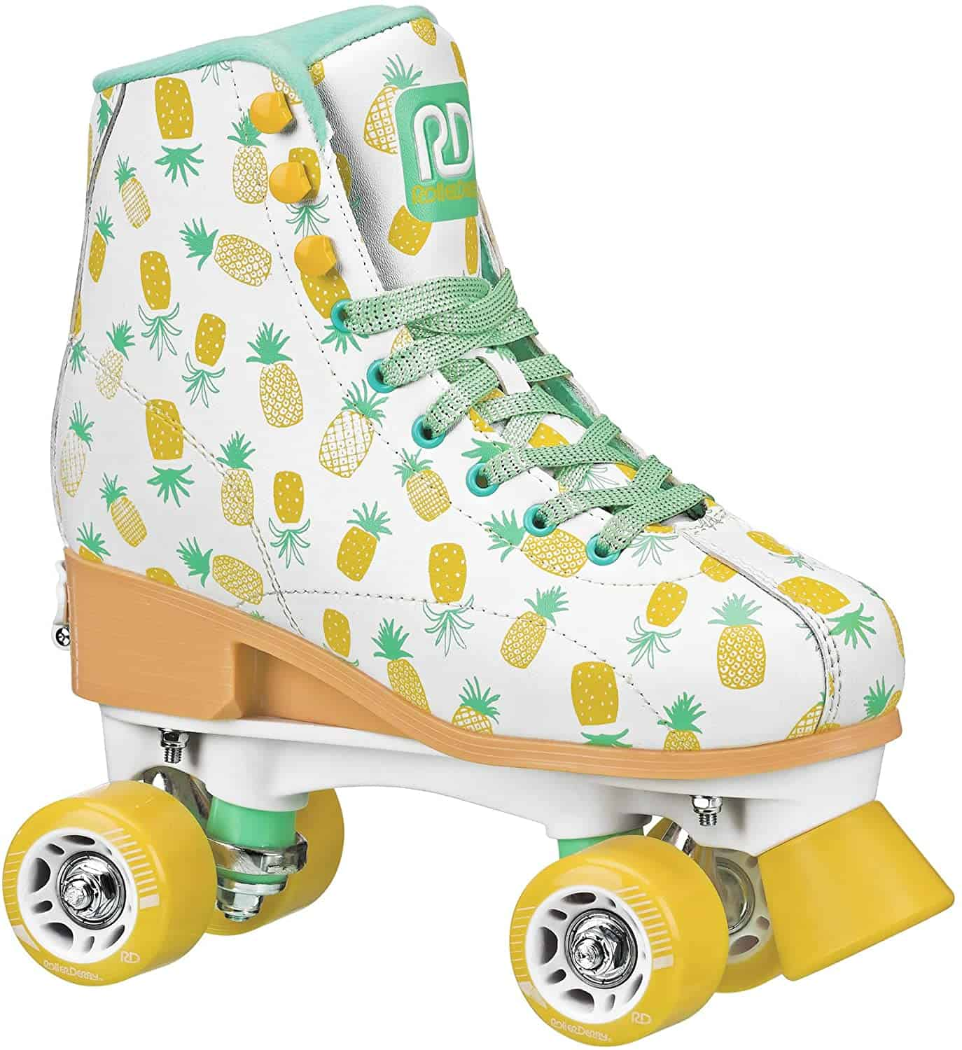 Girls Roller Skates with pineapple prints